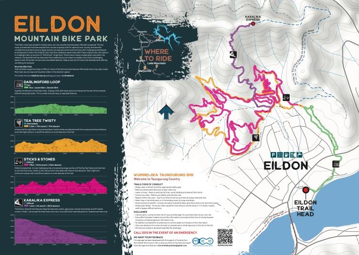 Eildon trailhead panel 1